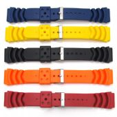 5X Mens Watch Strap Band For SEIKO MONSTER Rubber Divers Diving 20mm 22mm - S61